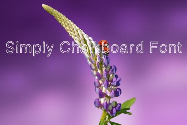 Free Simply Chalkboard Font