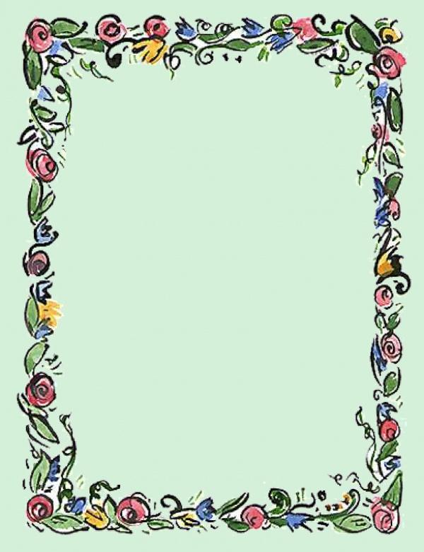 Free Spring Border Clip Art