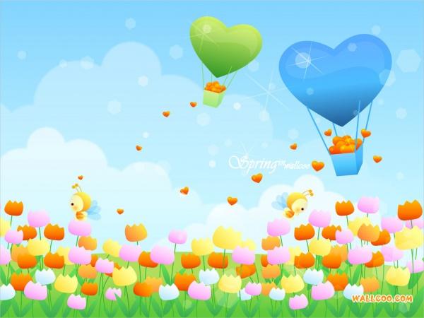 free-spring-cartoon-wallpaper