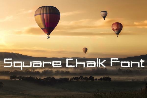 Free Square Chalk Font