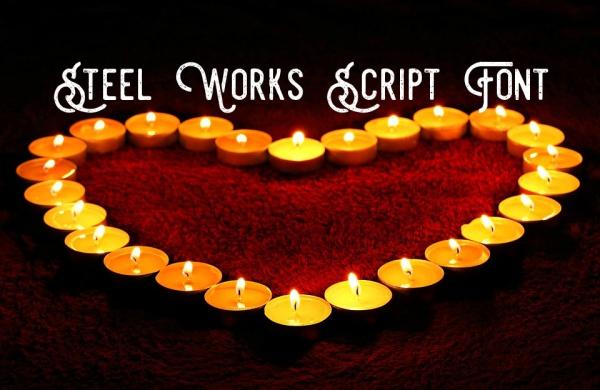 Free Steel Works Script Font