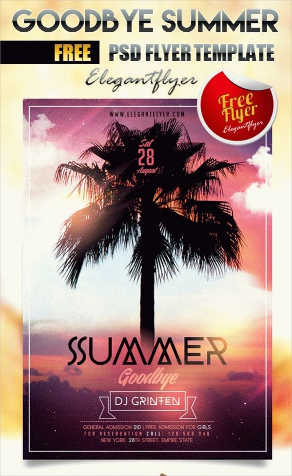 Free Summer Party Flyer Template