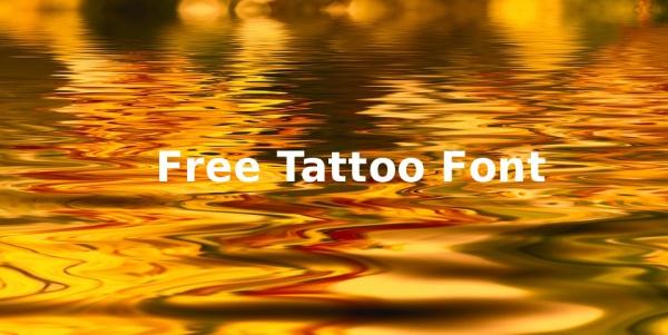 free-tattoo-font