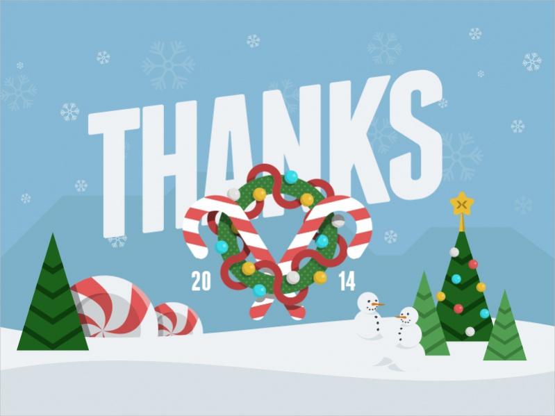 Free Thank You Christmas Printables