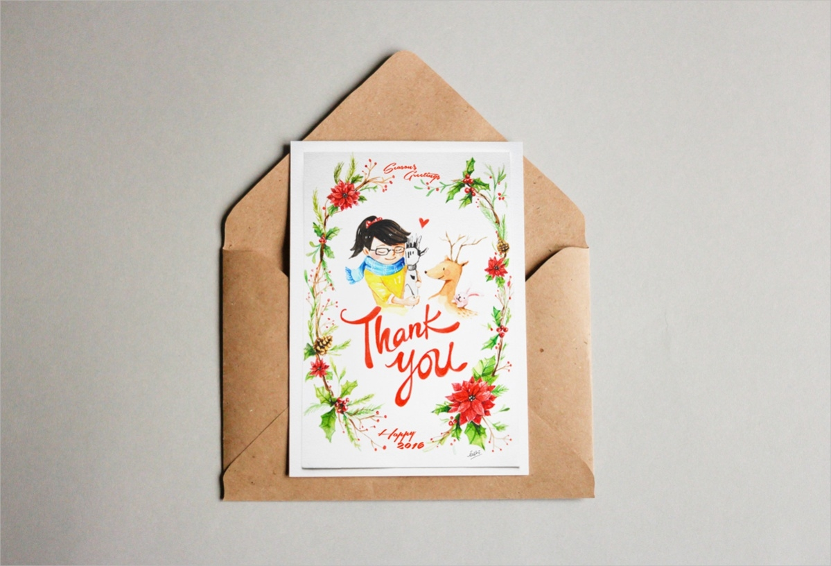 21 Free Thank You Cards Psd Vector Eps Download