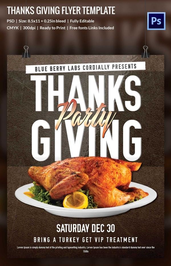 Free thanksgiving Flyer Design