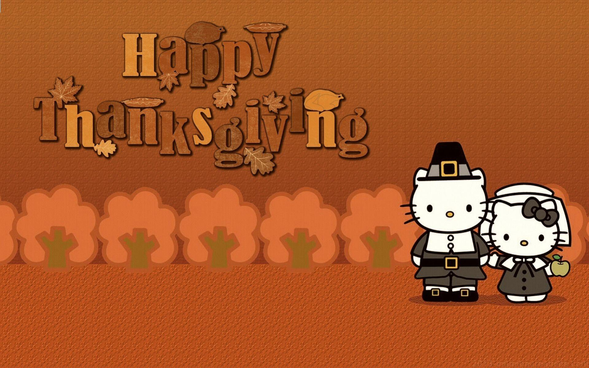 Free Thanksgiving Anime Wallpaper