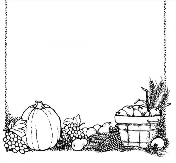 Free Thanksgiving Clip Art Border