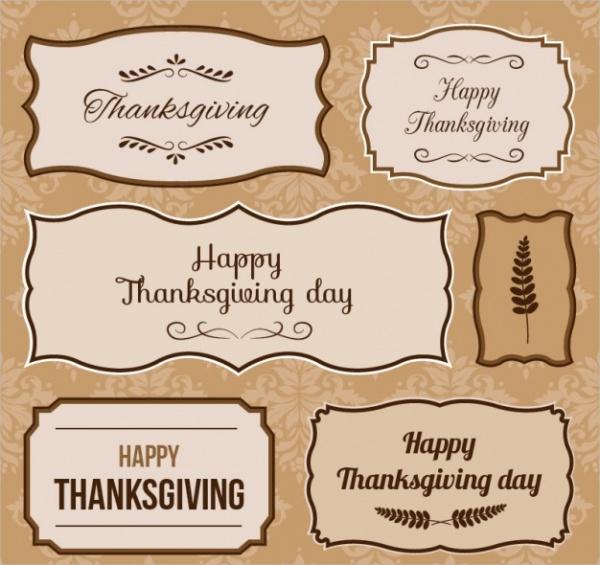 Free Thanksgiving Day Sticker Printable