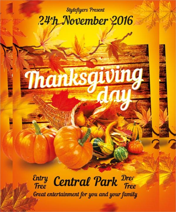 Free Thanksgiving Flyer Printable
