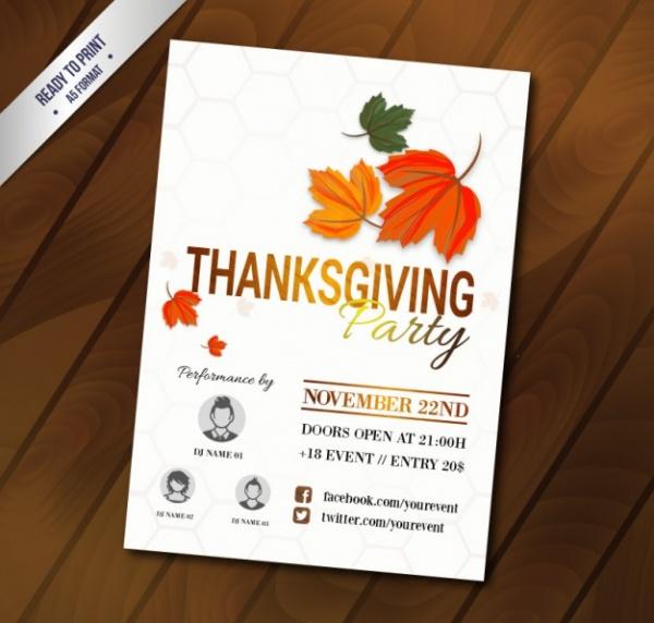 Free Thanksgiving Party Printable