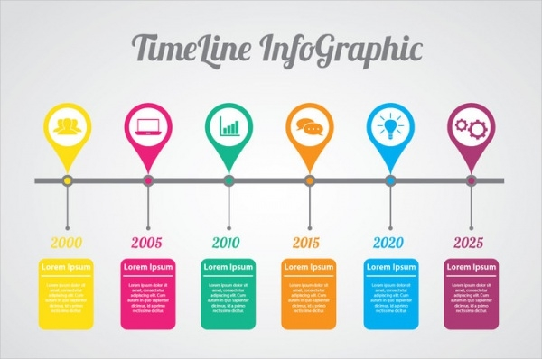Free Infographic Designs PSD Vector Download - Free timeline infographic template