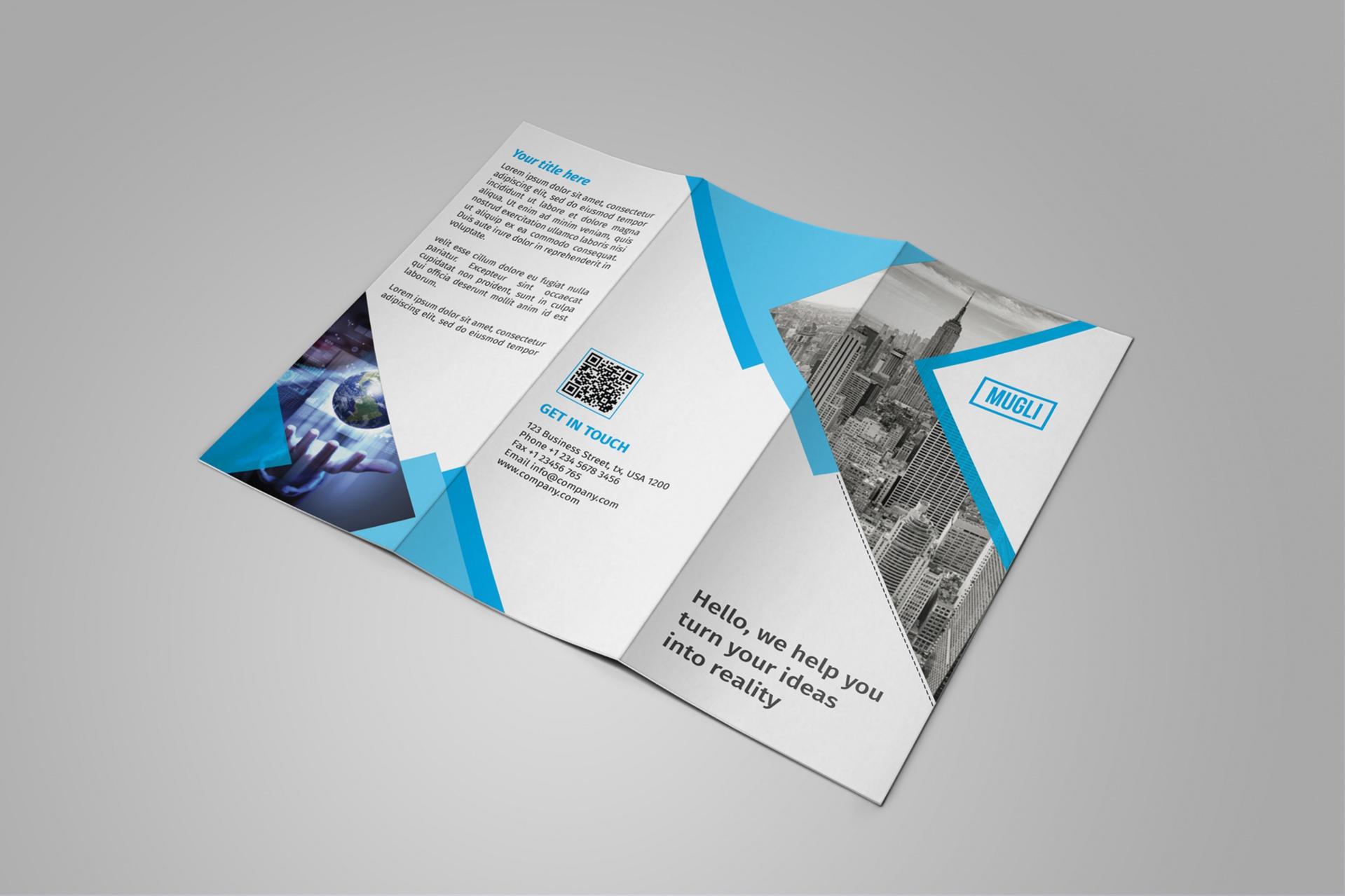 Free Tri Fold Leaflet Brochure Design