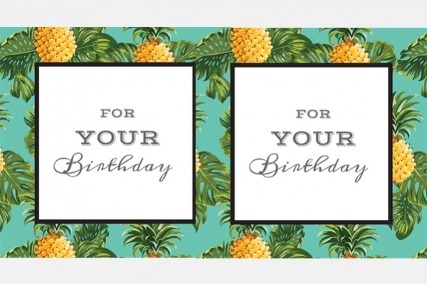 Free Tropical Birthday Ecard