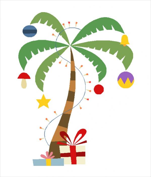 Free Tropical Christmas Clip Art