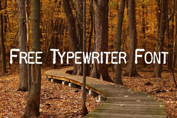 Free Typewriter Font