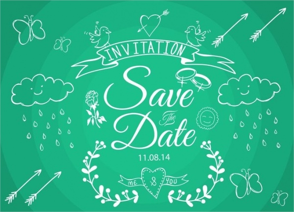 Free Vector Save The Date Template