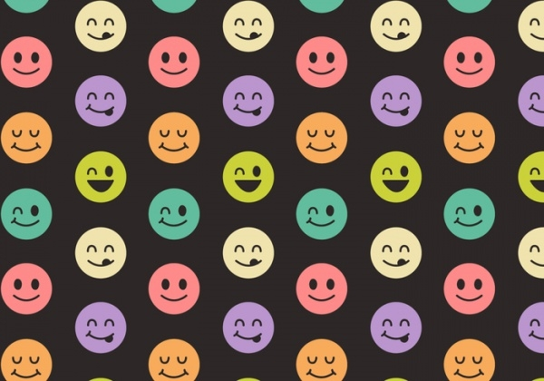 Free Vector Smiley Pattern