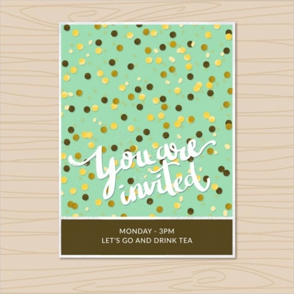free vintage birthday invitation design