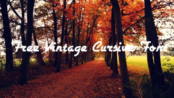 Free Vintage Cursive Font