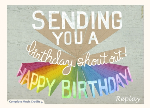 Free Vintage Electronic Birthday Card