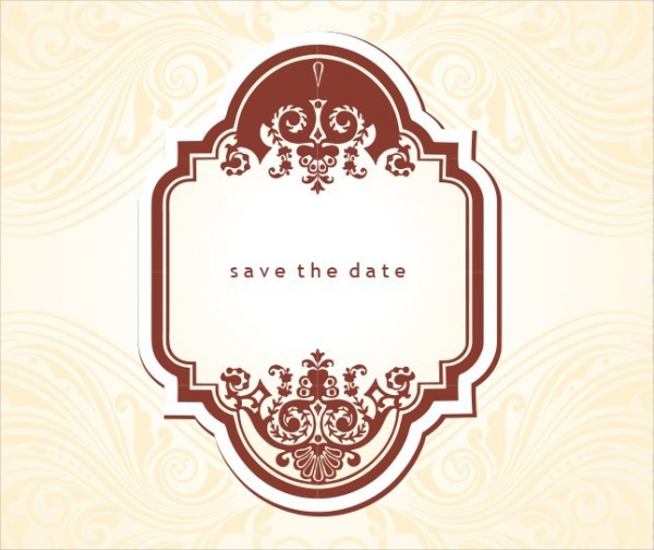 19 free save the dates psd vector download for Vintage save the date templates free