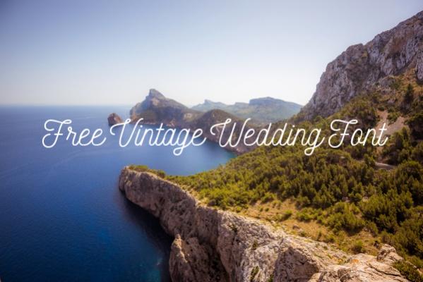 Free Vintage Wedding Font