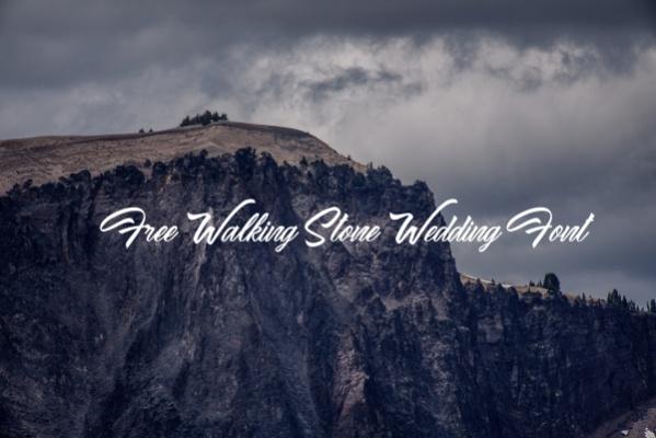 Free Walking Stone Wedding Font