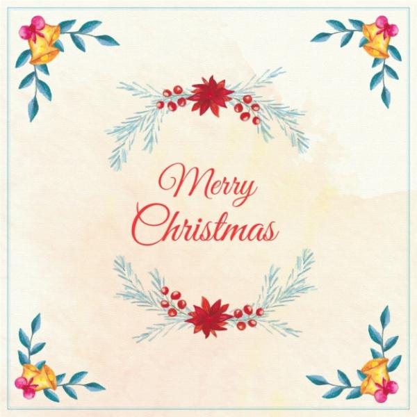Free Watercolor Christmas Card