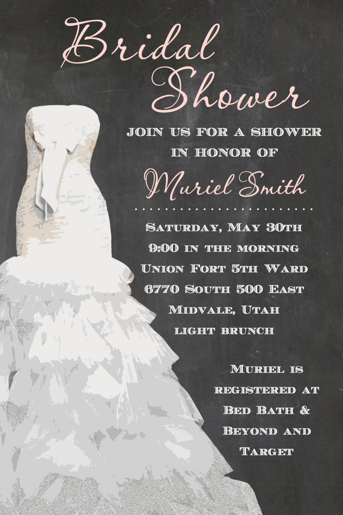 18 free bridal shower invitations psd vector eps download