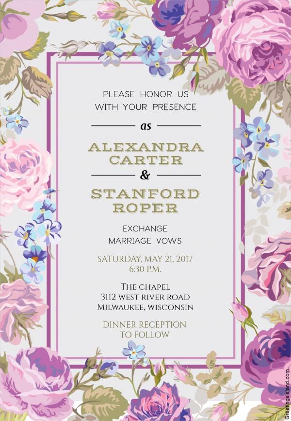 Free Wedding Floral Design