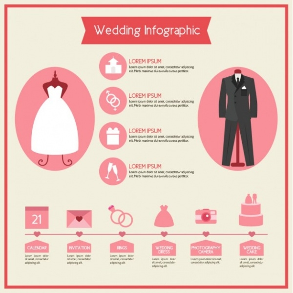 Free Wedding Infographic Template