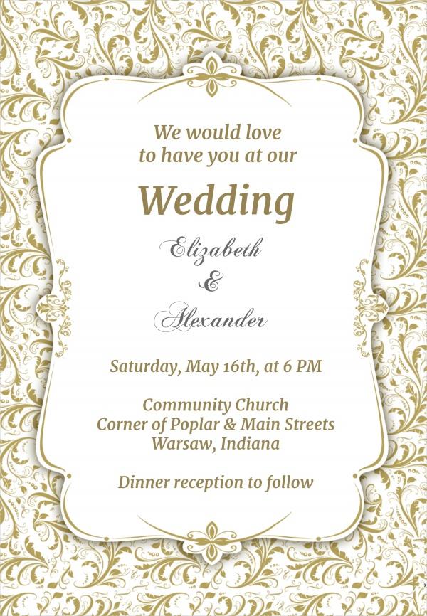 Free Wedding Invitation Design