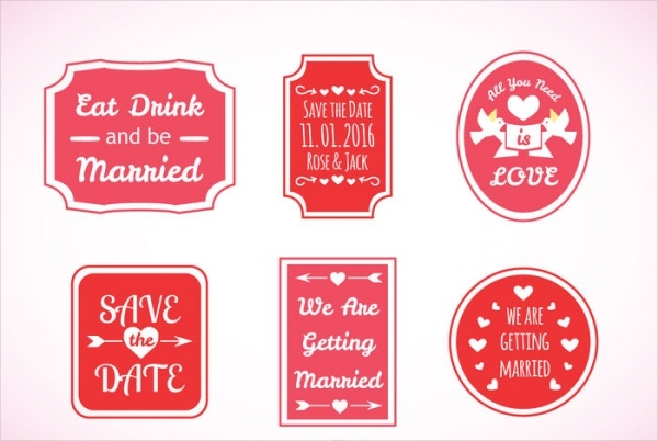 Free Wedding Label Printables