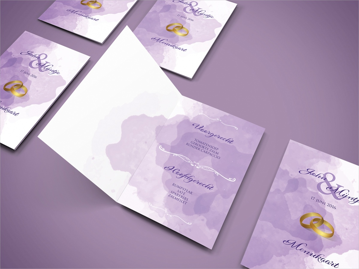 Free Wedding Menu Printables