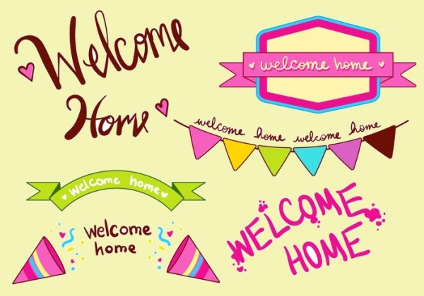 Free Welcome Home Banner Set