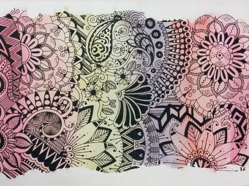 free zentangle pattern