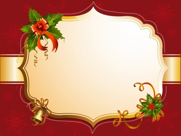 Free red Christmas Frame Design