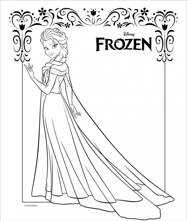 Frozen Coloring Page for Kid's