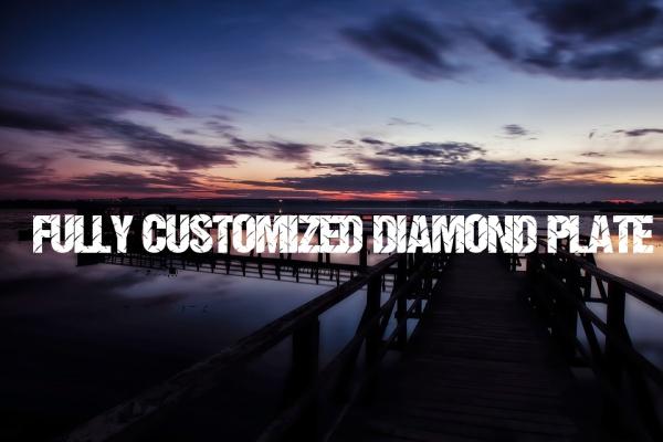 Fully Customized Diamond Plate Font