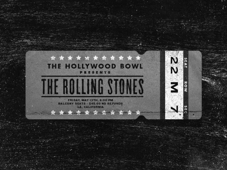 Fully Editable Concert Ticket
