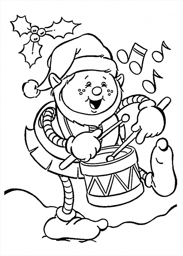 Funny Christmas Coloring Page
