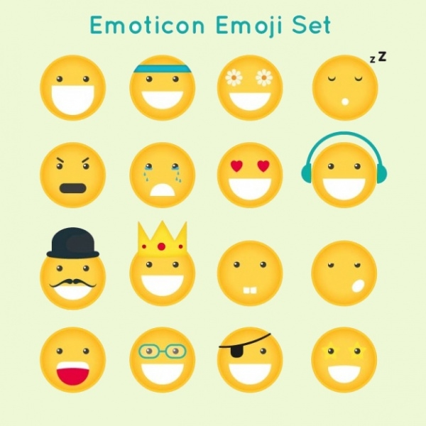 Funny Emoji Charcter Set