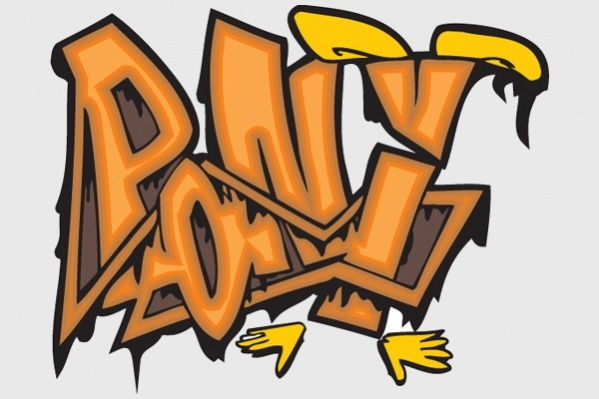 Funny Graffiti Alphabet Design