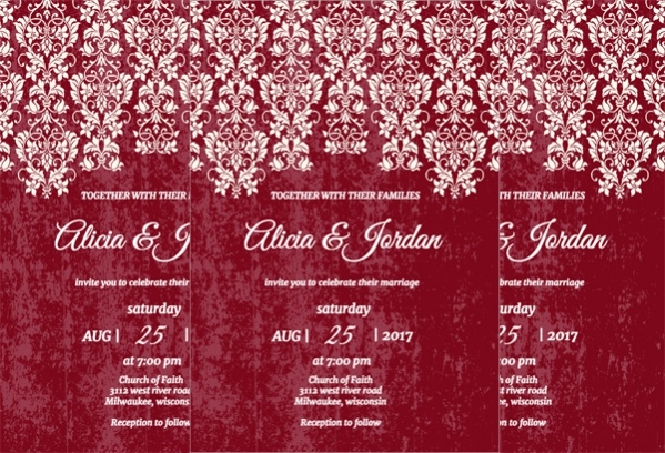 Glamour Lace Wedding Printables