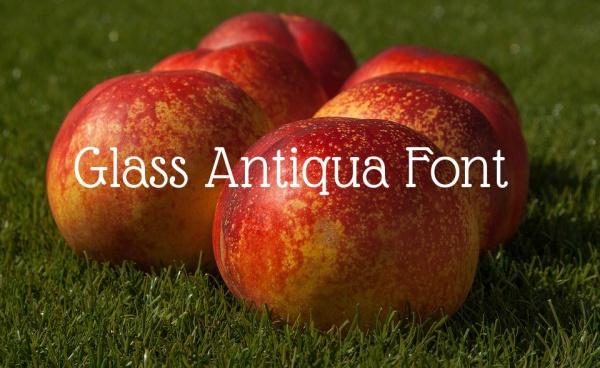 Glass Antiqua Font