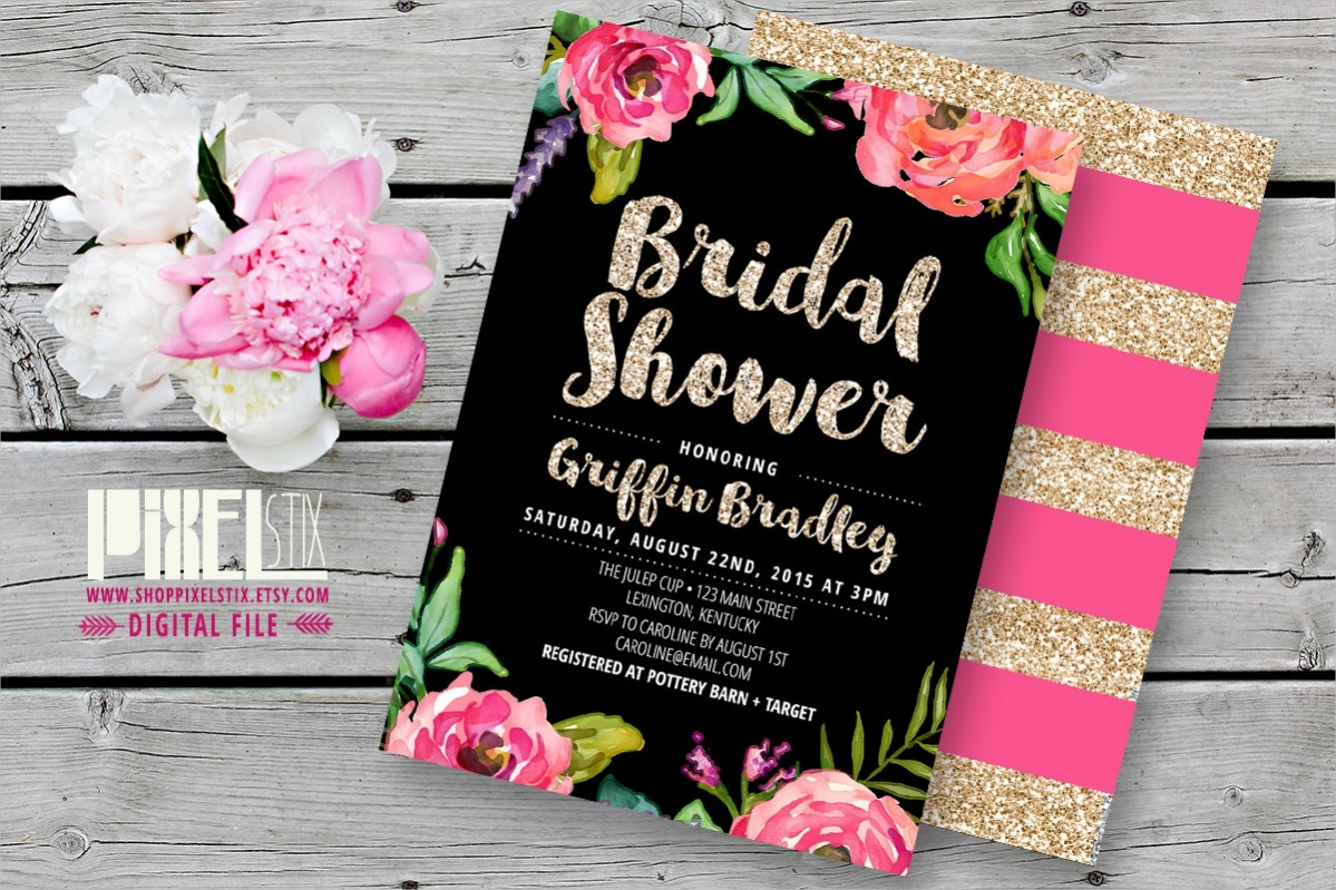 Glittering Bridal Shower Invitations