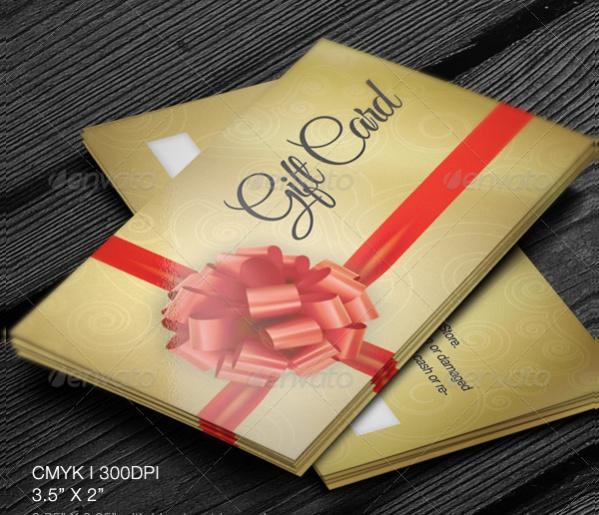 Golden Gift Card Design