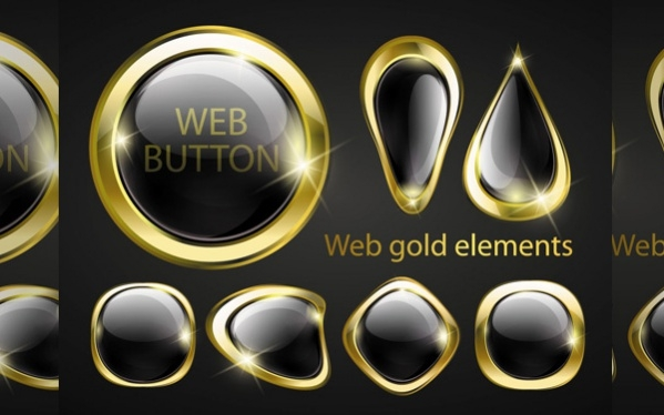 Golden Glow Web Buttons