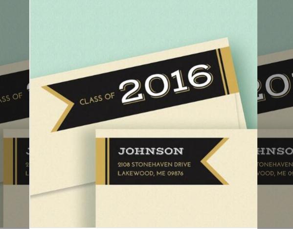 graduation address labels
